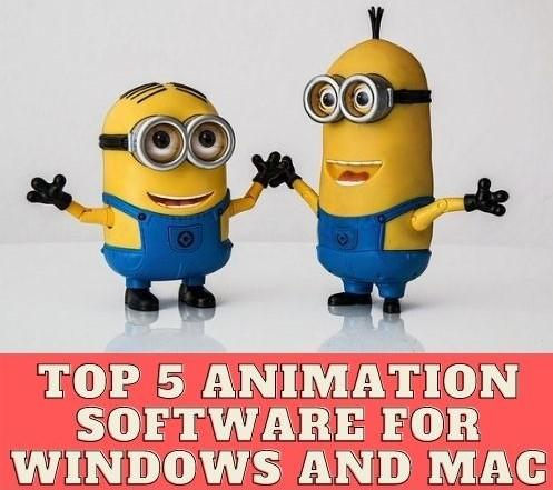 Top 5 Animation Software for Windows and MAC